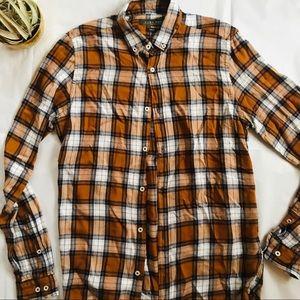Zara Men's Plaid Button-Up Shirt